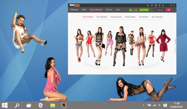 Naked girls on desktop